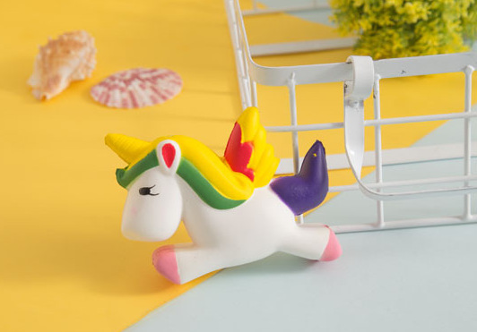 Colorful Unicorn Squishy Doll Slow Rising Stress Relief Squeeze Toys Stress Reliever Animal Squishy Toys Antistress Baby Kids