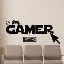 Game Play Room Decoration PC Gamer Wall Vinyl Decal  Sticker Art Design Poster Mural Beauty Modern Home Decor XL101
