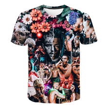 2020 3d impressão raper star xxxtentacion punk t camisa masculina/feminina moda streetwear estilo hip hop camiseta masculina legal topos marca t
