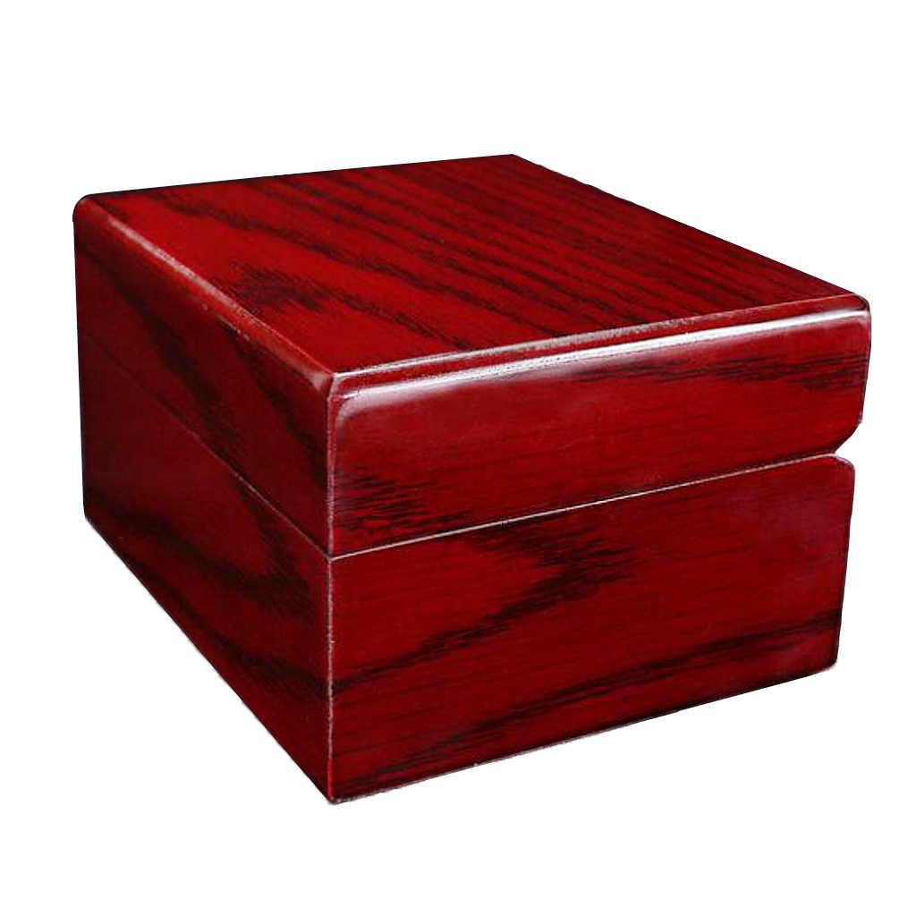 3 stücke Sammlung Rot Holzkiste Uhr Display Reise Schmuck Lagerung Schaufenster