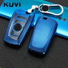 Авто-Стайлинг Авто углеродное волокно ключ чехол Чехол для Bmw новый 1, 3, 4, 5, 6, 7, серия F10 F20 F30 E60 E90 E46 G30 аксессуары