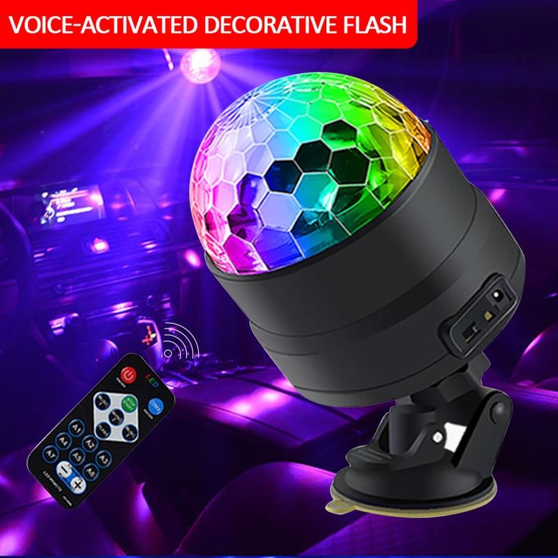 Club DJ Disco KTV Party RGB Crystal LED Ball Projector Stage Effect Light E46