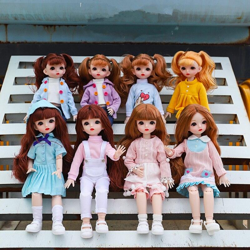 2020 nuevo 30cm Accesorios de muñeca BJD muñeca de 12 pulgadas vestido para muñeca ropa para niños vestido DIY juguete Ropa para Niñas regalos|Muñecas|   - AliExpress
