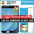 100% Оригинальный реальный 5,2 ''Super AMOLED дисплей для Samsung Galaxy J5 PRO 2017 J530 J530F Полный ЖК-сенсорный экран + пакет услуг