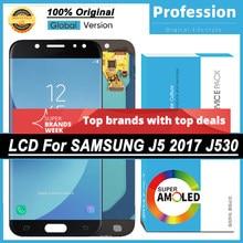 100% original real 5.2 super amsuper amoled display para samsung galaxy j5 pro 2017 j530 j530f tela de toque lcd completo + pacote serviço
