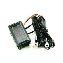 DC4-28V de alta precisão dupla-display digital carro termômetro ntc metal sonda