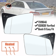 For Mercedes Benz S C E Class W212 W204 W211 E200 E250 E350 E63 S350 S400 Pair Wing Mirror Heated Glass Outside Anti Fog RH LH