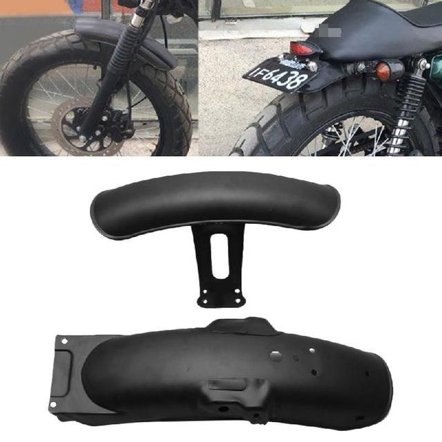 Black Metal Motorcycle Rear Front Fender
