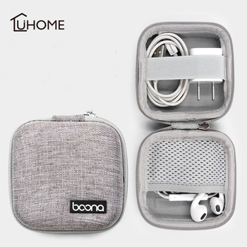 Mini Headphone Case Bag Portable Earphone Earbuds Box Storage for Memory Card Headset USB Cable Charger Organizer