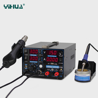 High Power YIHUA 853D 1A USB Soldering Station With Power Supply Soldering Station Hot Air For Welding Free shipping