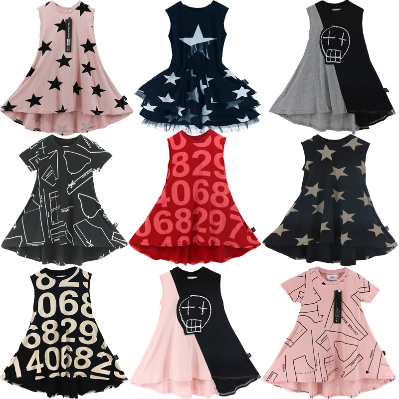 2020 New Girls Dresses Brand Summer Casual Kids Clothes 100% Cotton Children Costume Party Princess Dress