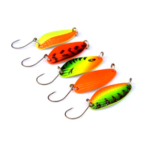 5pcs 4.5g mini fishing spoon trout lures fluttering spoons Japanese freshwater spinner
