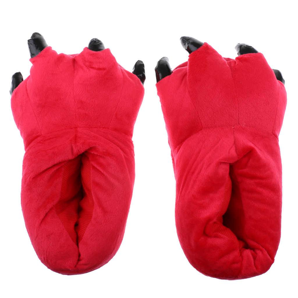 דינוזאור יפה Paw נעלי בית טפרי בית חם נעלי למבוגרים קוספליי יום הולדת בית המפלגה Favour מתנות
