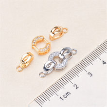 Wholesale Superior Quality Metal Zircon Silver/Gold/Rose Gold Clasps Hooks For Bracelet Necklace Connectors DIY Jewelry Making K016(China)