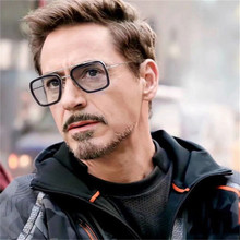 TTLIFE Avengers Tony Stark Flight Style Man Sunglasses Men Square Brand Design Sun Glasses Oculos Retro male iron 3 YJHH0160