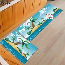 Zeegle области коврик для гостиной Противоскользящий кухонный коврик стол стул коврики моющийся ковер для спальни прикроватные коврики коврик для ванной