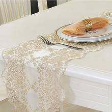 Lychee European Style Embroidery Table Runner Simple for Home Wedding Birthday Party Outdoor