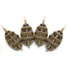 Plastic Inline Method Feeder Fishing Accessories 4 Feeders Mould Set Carp Fishing Sinker Fishing Trough Pesca 15g 20g 25g 35g