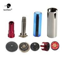 TACTIFANS 13:1 Gear Set Cylinder Piston/head Spring Guide Nozzle Clear 14 Teeth Piston Inner Barrel 363-460mm AK M4 AEG