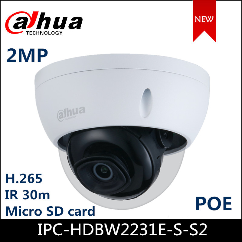 <font><b>Dahua</b></font> <font><b>2MP</b></font> POE <font><b>IP</b></font> <font><b>Camera</b></font> Support Motion detection,H.265+ WDR <font><b>IP</b></font> Security Dome <font><b>Camera</b></font> Outdoor IP67 ONVIF IPC-HDBW2231E-S-S2 image