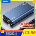 TOPK I2006P PD 20W Power Bank 20000 mAh Tragbare Lade Poverbank Handy Externe Batterie Ladegerät Power 20000 mAh