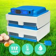 New 45W 112 Position Eggs Automatic Incubator LED Egg Incubator Poultry Hatcher Fully Automatic Home Hatching Machine 220V