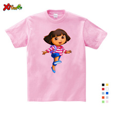 3T-9T Girl Summer Clothes T Shirts Casual Funny Top T Shirt Boys Tops 2018 New T Shirts Kids Toddler Dora Explorer Tee Shirt коркуэра а ред альбом современные дома