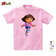 3T-9T Girl Summer Clothes T Shirts Casual Funny Top T Shirt Boys Tops 2018 New T Shirts Kids Toddler Dora Explorer Tee Shirt полотенцесушитель водяной 320x650 сунержа high tech model g 00 4051 3265