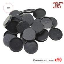 Bases redondas plásticas de 40 pces 32mm para miniaturas