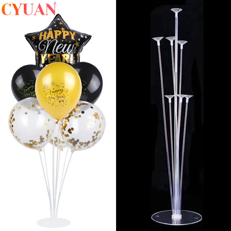 <font><b>7</b></font>/10 <font><b>Tube</b></font> <font><b>Balloon</b></font> <font><b>Stand</b></font> <font><b>Balloons</b></font> Arch Stick <font><b>Holder</b></font> Column <font><b>Balloon</b></font> Kids Birthday Party Baloon Globos New Year Christmas Decor image