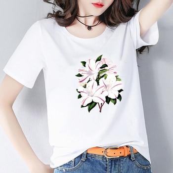 O-neck T'shirt Customize Casual T-shirt Fairy Print T-shirt For Cute Girls Ladies Pure Cotton Streetwear Short Top Tee