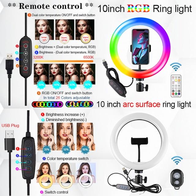 Orsda 10-12 Inch Led Ring Light With Tripod RingLight Selfie Ring Light for Makeup Video Live Aro De Luz Para Hacer Tik Tok 4