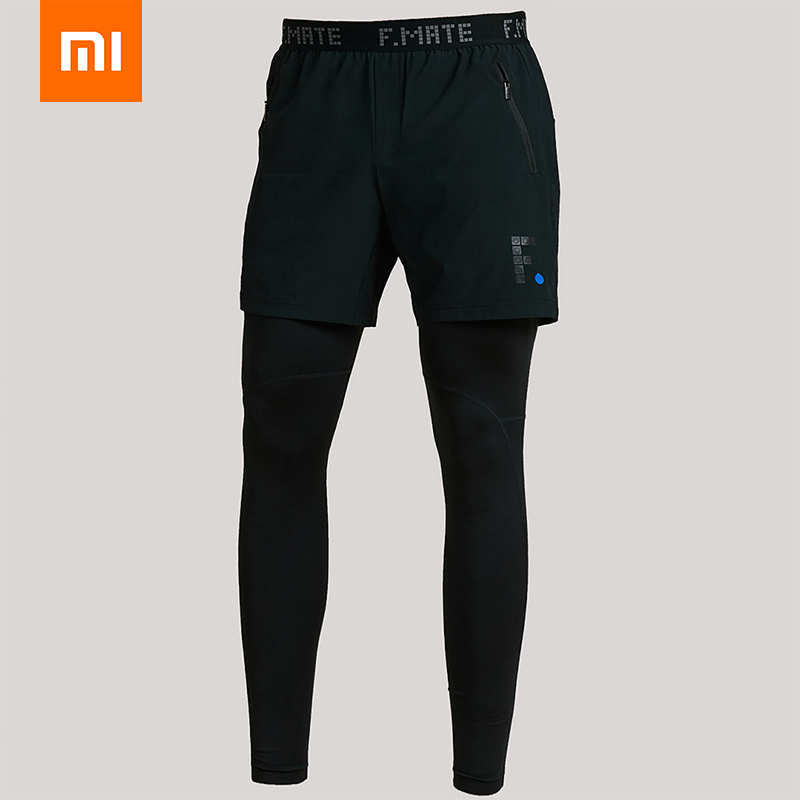 Leggings Shorts Running-Sweatpants Xiaomi Cool Smooth Two-In-One F.mate Quick-Drying
