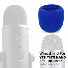 Quality Wind Shield Screen Microphone Cover Windproof Foam Windshield For Blue Yeti Nano and Pro Mic Windscreen Pop Filter(China)