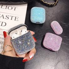Étui Airpods 2 Bluetooth sans fil, paillettes scintillantes, accessoires pour écouteurs Apple, housse en cristal