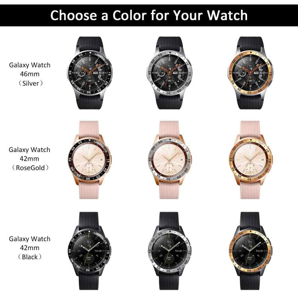 הילוך S3 כיסוי עבור Samsung הילוך S3 Frontier Galaxy שעון 46mm/42mm טבעת דבק כיסוי אנטי שריטה smart watch אביזרי s3 46
