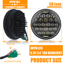 5 3/4  5.75 LED Headlight Motorcycle Black For Harley Sportster 1200 XL1200L Custom XL1200C 883 XL883 883L XL883R 48 for harley 5 3 4 motorcycle projector daymaker led lamp headlight 5 3 4 for harley sportster iron 883 dyna street bob fxdb