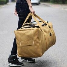 Large Capacity Travel Bags Men High Quality Canvas Handbag Carry on Luggage Bag Black Khaki Weekend Bag Trip Duffle Tote XA348F