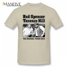 Top Bud Spencer and Terence Hill T Shirt Plain T-shirts Cotton Crewneck XXXL Short Sleeve Custom Funny