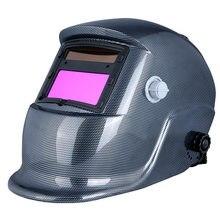 Casco de soldadura eléctrico con oscurecimiento automático, máscara soldadora Arc Tig Mig, molienda, energía Solar