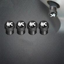 4 шт. Авто клапан для шин кепки стикеры кепки пылезащитный колпачок для шины для peugeot 206 308 307 207 208 3008 407 508 2008 RCZ автомобильные аксессуары
