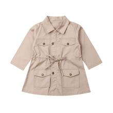2019 Brand Fashion Infant Baby Girls Clothes Kids Jacket Coat Solid Zipper Jacket Autumn Winter Warm