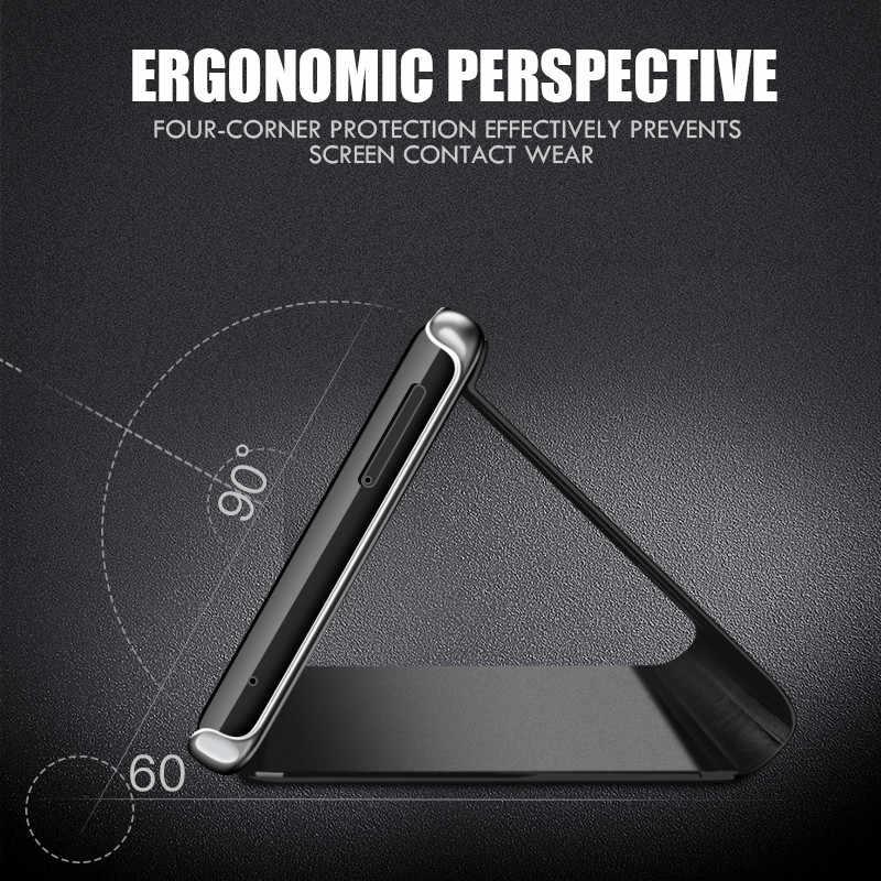 Умный зеркальный флип-чехол для телефона для samsung Galaxy S9 S8 плюс S7 S6 edge Note 8 9 A10 A20 A30 A40 A50 A70 M10 M20 M30 Роскошный чехол