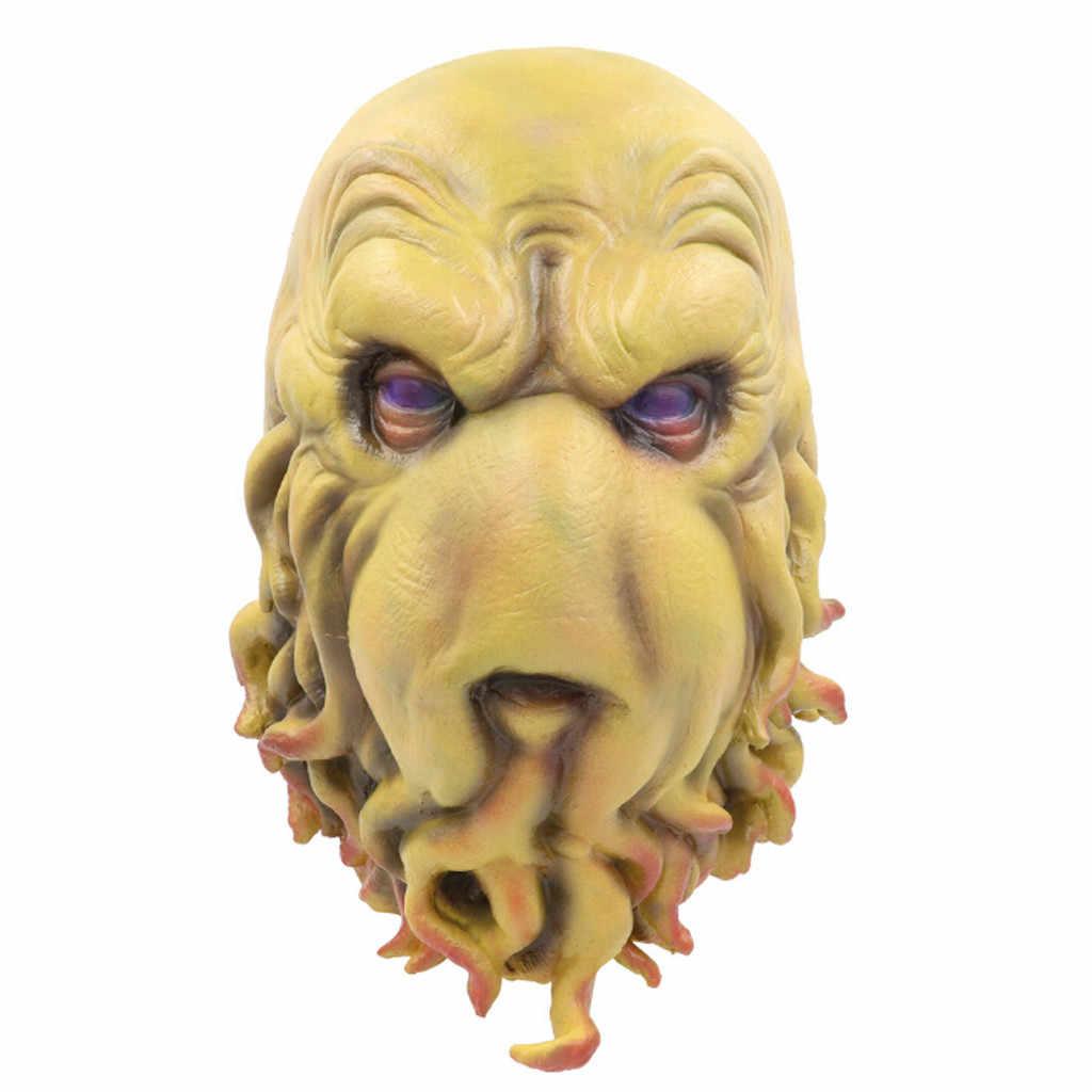 Вечерние Маски на Хэллоуин, латексные маски на все лицо, ужасные животные, собака, голова лошади, маски для маскарада, маски на Хэллоуин, вечерние принадлежности
