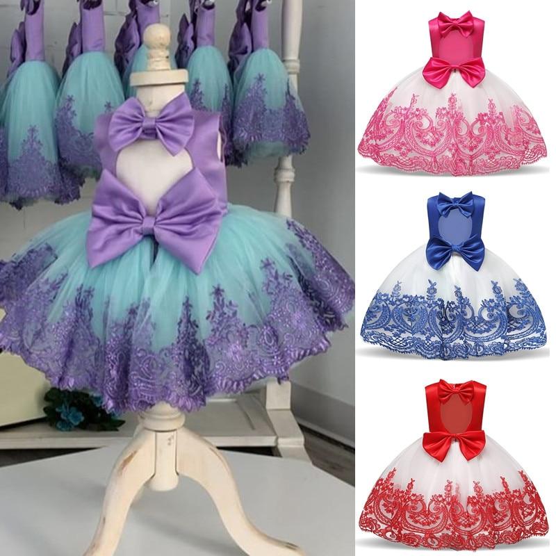 Vestido Formal de Bautizo para ni/ña Bow Dream