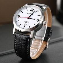 Watch for Men Automatc Mechanical Watch Waterproof Wristwatch Relogio Masculino Luxury Watches Black Leather Male Clock