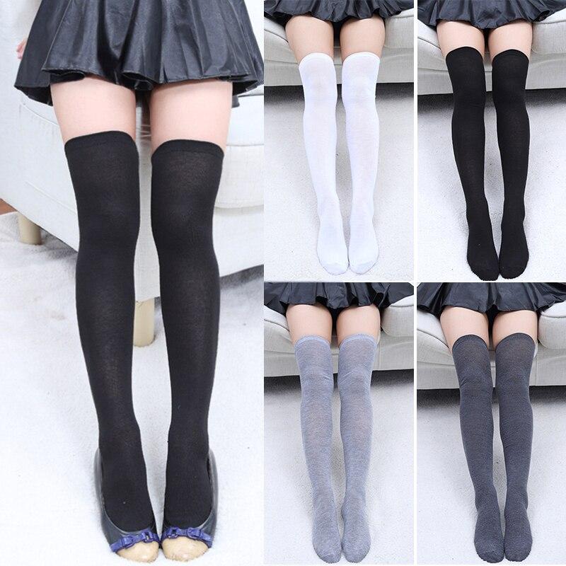 Calcetines de mujer medias calientes muslo alto sobre la rodilla calcetines largos de algodón medias calcetín Sexy medias calcetín de mujer