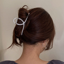 Claw-Clip Jewelry Hair-Accessories Make-Up Korean-Hair Metal French Women Simple Gold