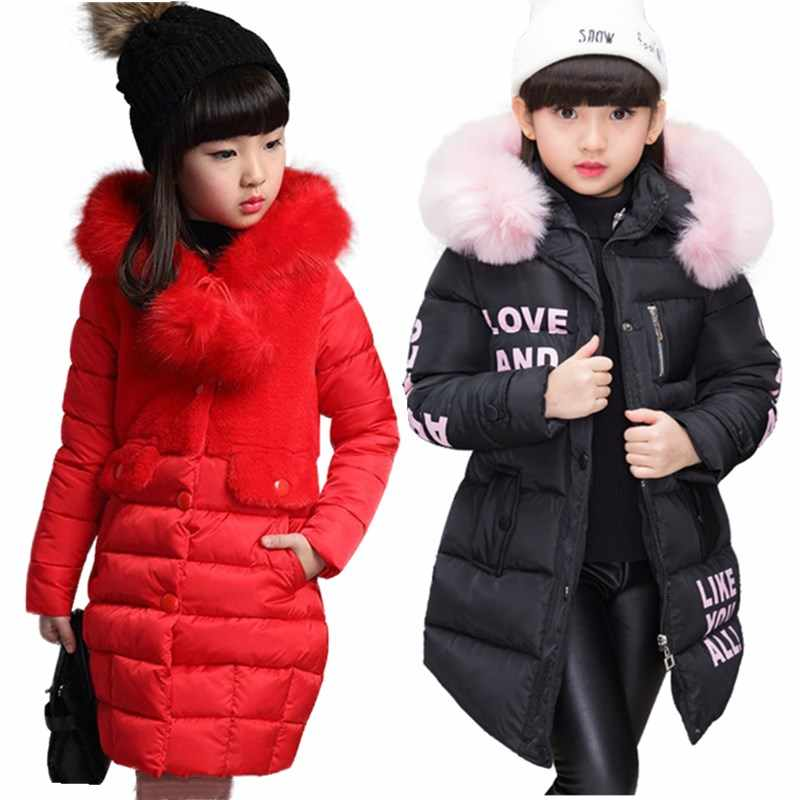 2019 Warm winter Children Winter Jacket Kids Winter Wool Outwear Stylish Girls Casual Long Outerwear & Coats Children Clothing