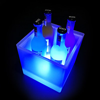 Manufacturers a Generation of Fat LED Light emitting Ice Bucket Plastic Ice Bucket Bar Wine Cooler Drop resistant Champagne Buck
